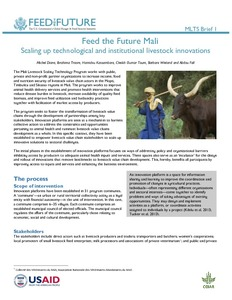 Innovation platforms help scale livestock development approaches in Mali