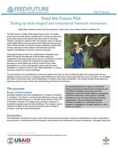 Innovation platforms help scale livestock development approaches inMali